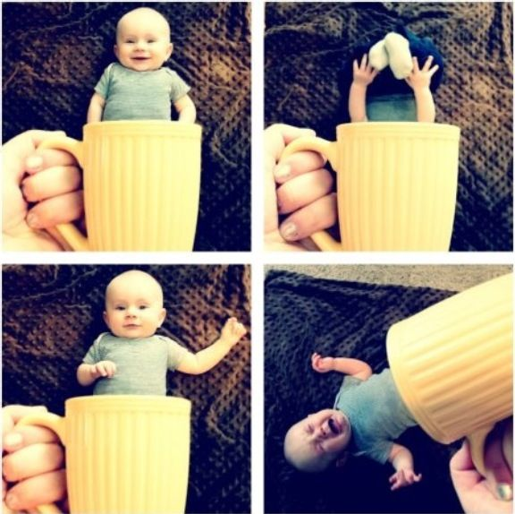 Creative and funny baby photos you can do yourself !!!