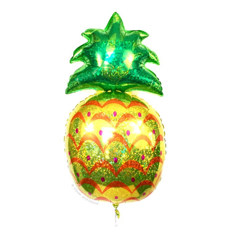 Pineapple Balloon - Holo Pineapple Balloon - Pineapple Party Decor // Summer Party Decor // Luau Party Supplies // Tropical Party Decor by CloverandBloomCo on Etsy https://www.etsy.com/listing/243425494/pineapple-balloon-holo-pineapple-balloon