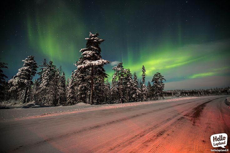 Aurora borealis showed up again 11.1.2014 in Kemijärvi region, Lapland, Finland.