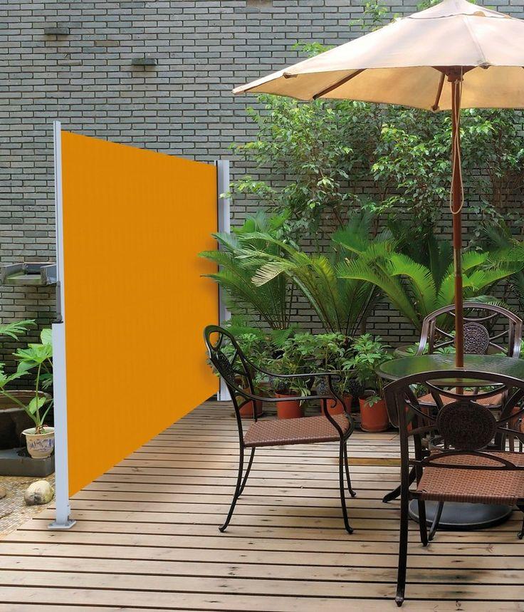 brise vent pour terrasse - un store latéral rétractable de design moderne en orange