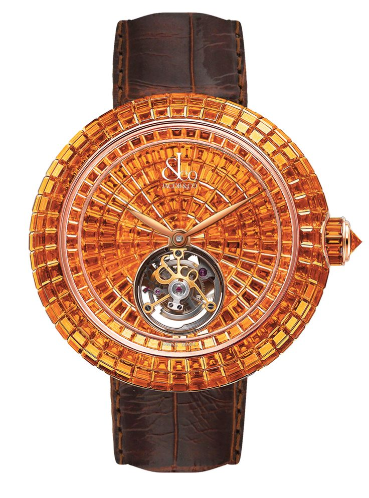 Jacob & Co.'s Brilliant Skeleton Tourbillon Collection Timepiece with a Rose…