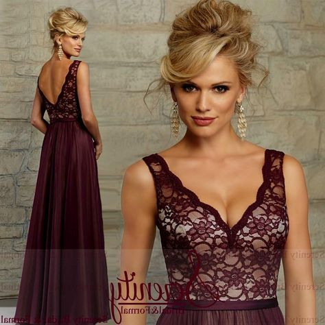 wine lace bridesmaid dresses Naf Dresses