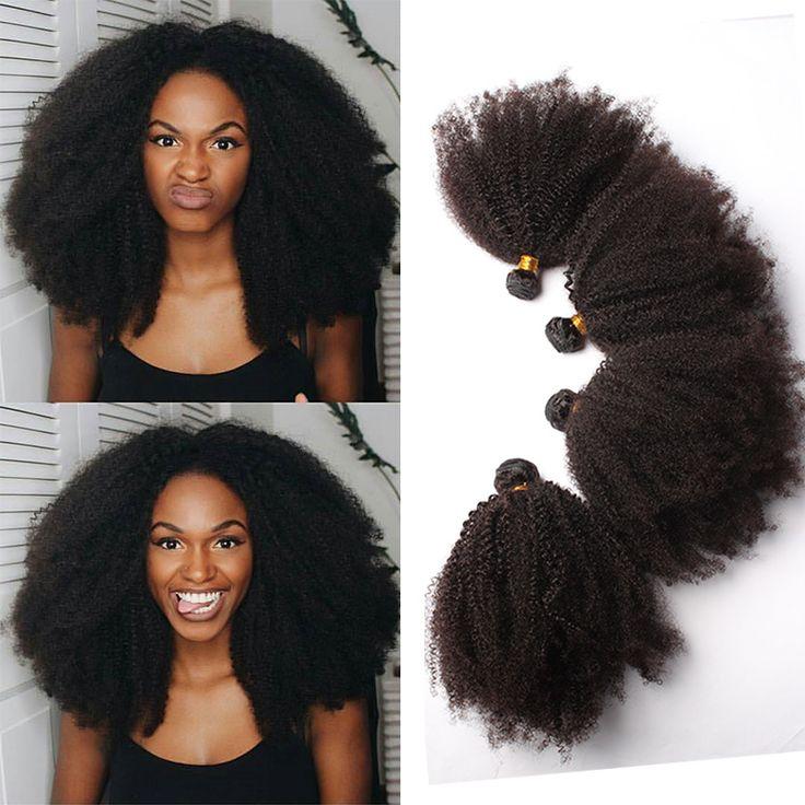 モンゴルアフロ変態巻き毛7a変態カーリーバージンヘア延長4ピース変態カーリーバージン人毛織りローザ髪製品