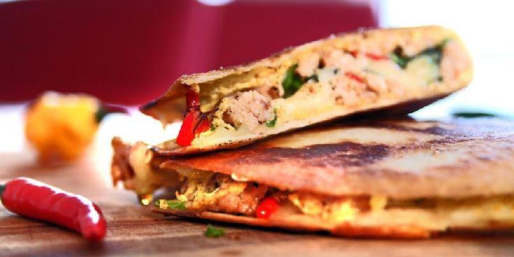 Quesadilla med kylling - Du vil bli forbløffet over hvor godt dette er. Det må prøves!