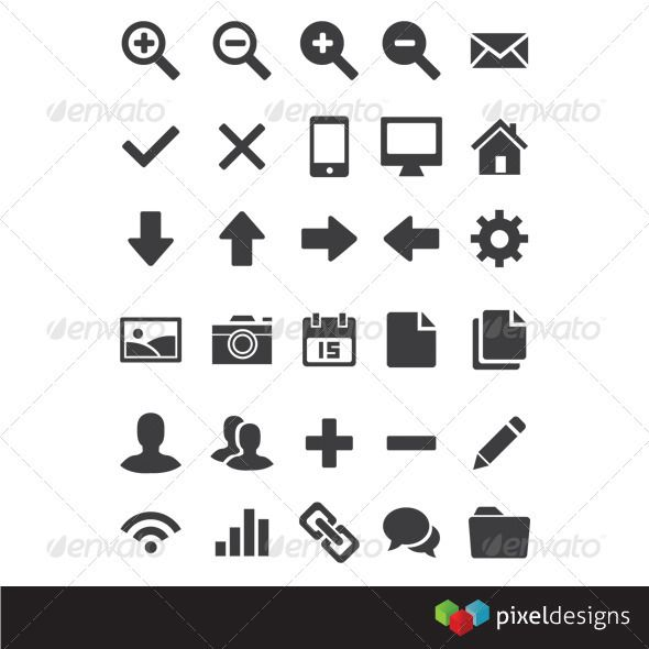 30 basic webdesign icon graphicriver 30 editable 100 vector basic icon for basic icons flat icons 1000