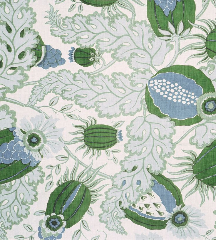 Carnival Outdoor in Verde by Micheal Szell for Christopher Farr Cloth