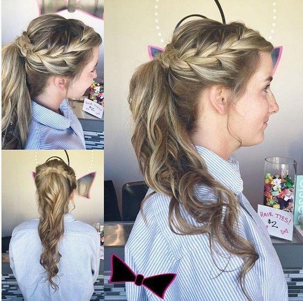 Stupendous Best 25 Side Braid With Curls Ideas Only On Pinterest Braids Short Hairstyles Gunalazisus