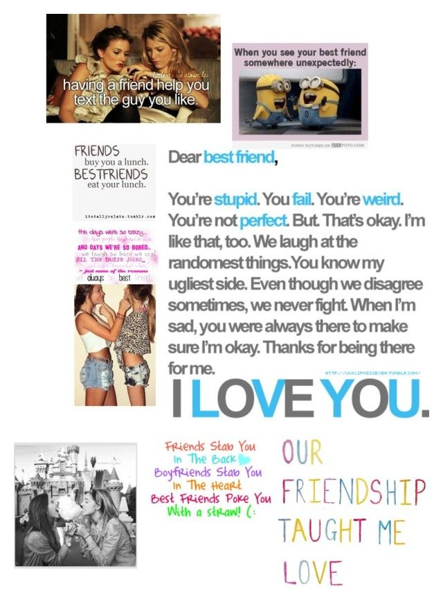 """Best Friend Collage Dedicated To My BFF's Anna And Nyla"" by luvonedirection4ever ❤ liked on Polyvore featuring art"