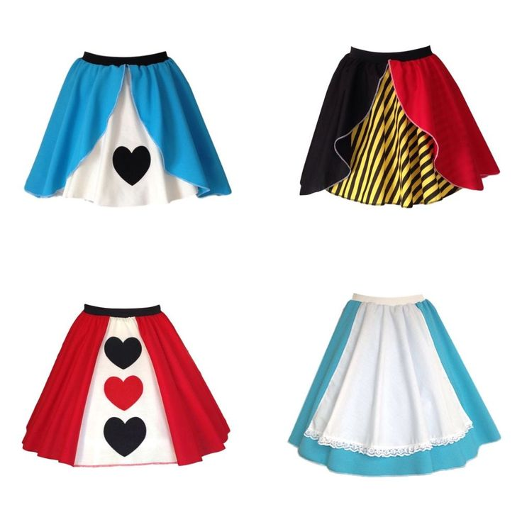 QUEEN OF HEARTS / ALICE IN WONDERLAND Fancy Dress Skirt outfit Costume UK MADE | eBay