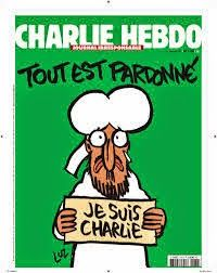 """Charlie Hebdo: """"On fait confiance à l'intelligence de l'humour"""". Mahomet en une du «Charlie Hebdo» mercredi 14 janvier 2015"""