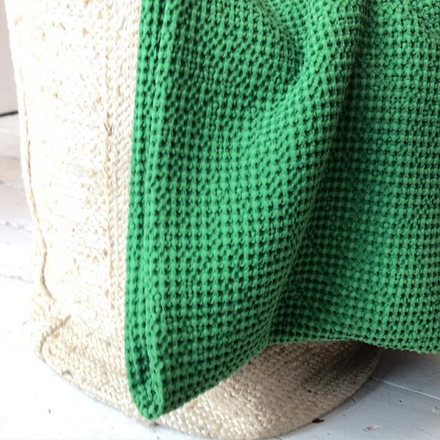 Beautiful green throw ready for cold autumn nights.