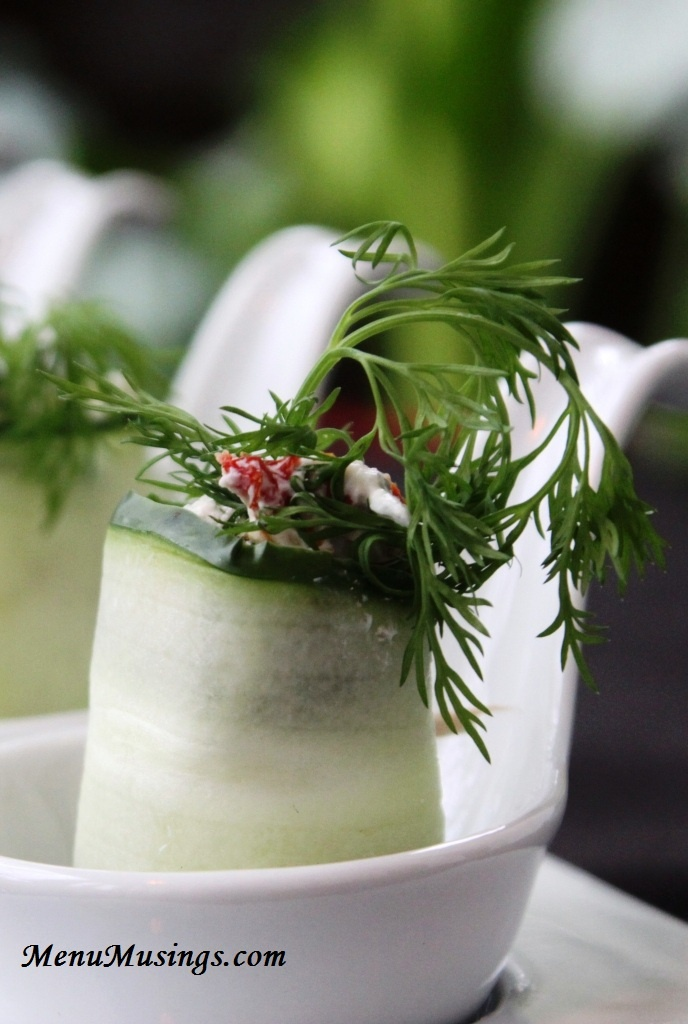 Dill and Sun Dried Tomato Cucumber Rolls