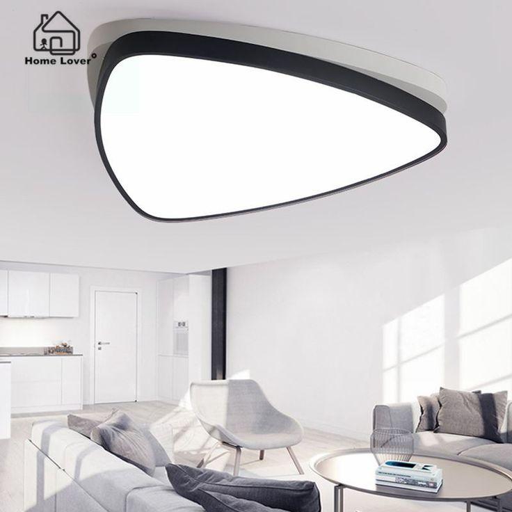 Для поверхностного монтажа Треугольник современный светодиодный потолочный люстра свет лампы для гостиной кабинет спальня светодиодные лампы, люстры светильники купить на AliExpress