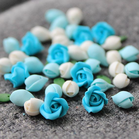 Polymer Clay Flower Rose 48 pcs beads by JewelryFindingsByKat #Beads #PolymerClay #PolymerClayBeads #Beadsupplies #Beadingsupplies #JewelrySupplies