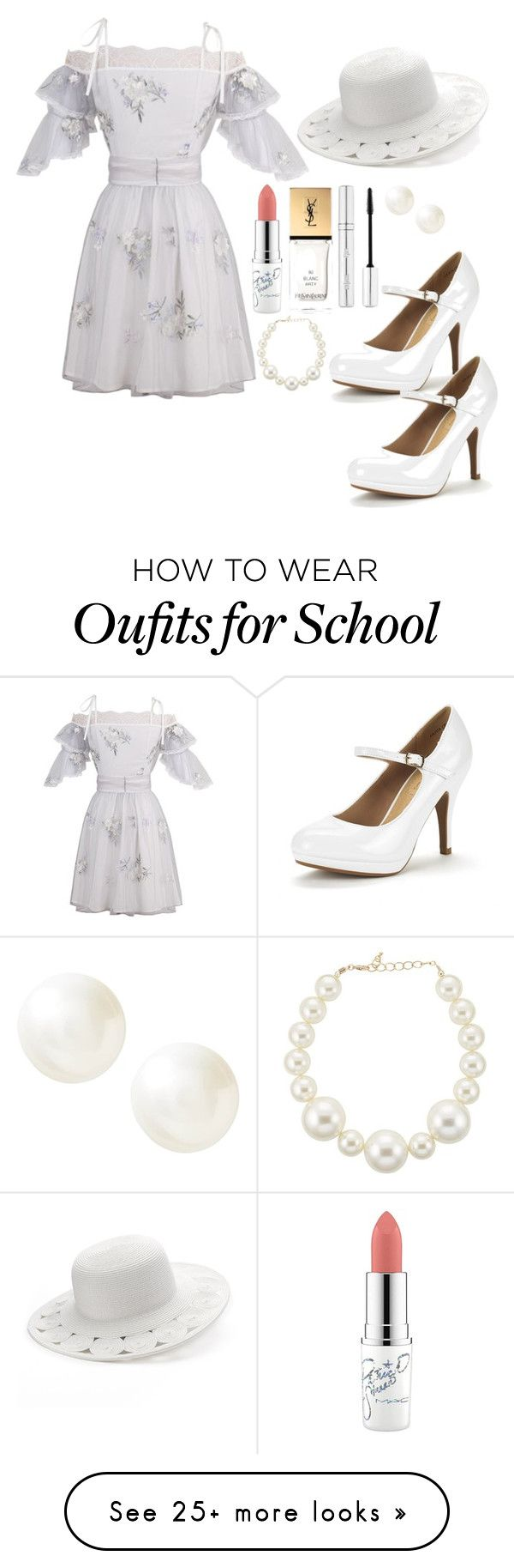 """""""World Of Plants:Clavel"""" by ivanna1920 on Polyvore featuring SONOMA Goods for Life, MAC Cosmetics, Yves Saint Laurent, Zelens, Kenneth Jay Lane and Banana Republic"""