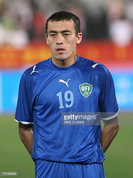 Uzbekistan's Islom Inomov poses prior to the team's international friendly match against China in Macau 27 March 2007 China beat Uzbekistan 31 AFP...
