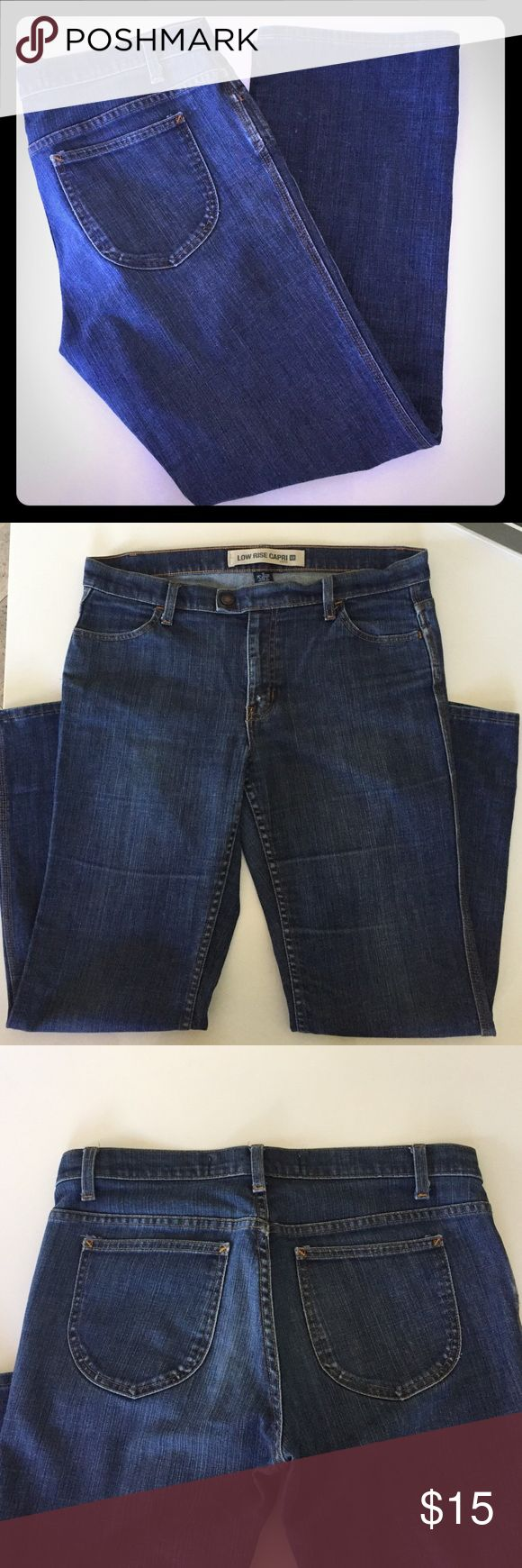 "GAP Low Rise Capri Jean Gap Low Rise Jean has zipper and clasp button closure. 4 pockets 28"" inseam. GAP Jeans"