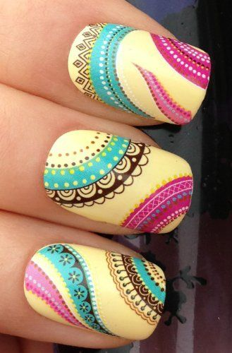 NAIL ART WRAPS WATER TRANSFERS/STICKERS DECALS ETHNIC BOHO PATTERN #238. make sure your buying from the ORIGINAL at your fingertips nail art design, http://www.amazon.co.uk/dp/B00DTTXFWO/ref=cm_sw_r_pi_awdl_5AEmwb05YWW0M