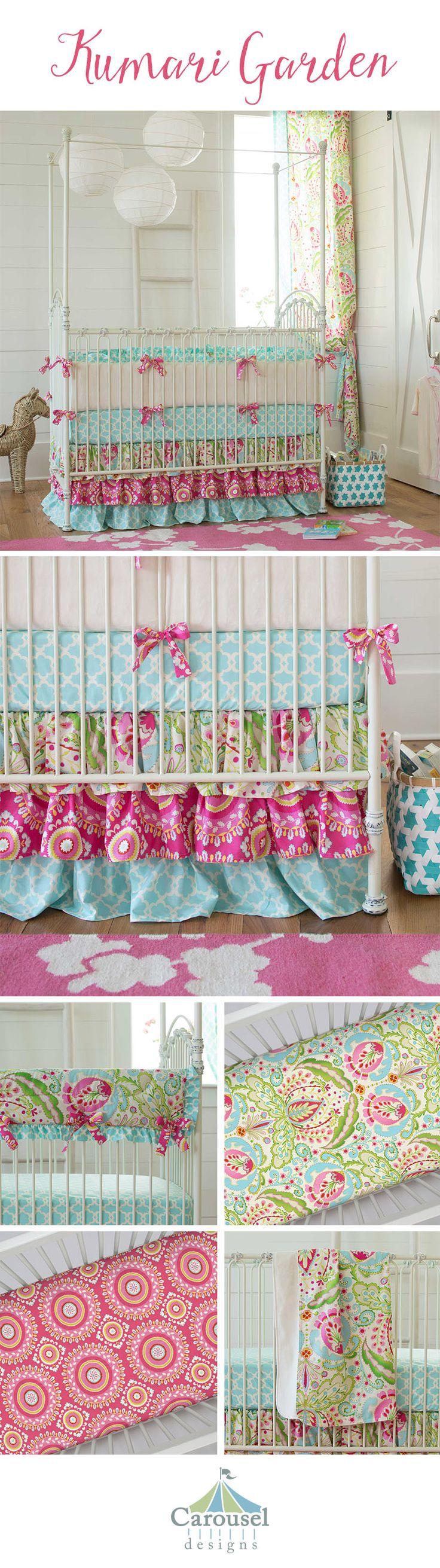 Crib for babies india - Kumari Garden Baby Crib Bedding
