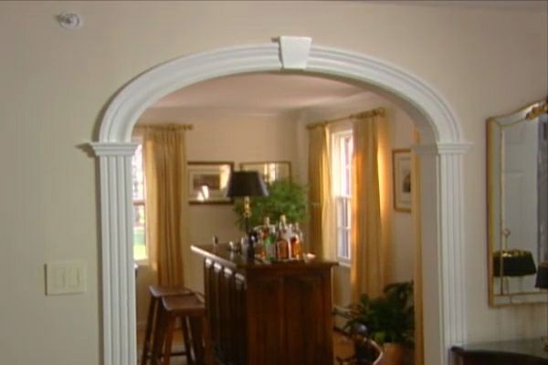 Foyer Hallway Kit : Learn how to create an arched doorway using arch kit