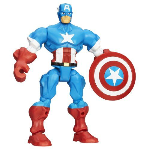 Marvel Super Hero Mashers Captain America Figure 6 inches * Want additional info? Click on the image.