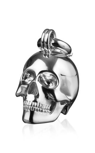 Silver Kranio Plain Human Skull With Catch by Maia for Preorder on Moda Operandi