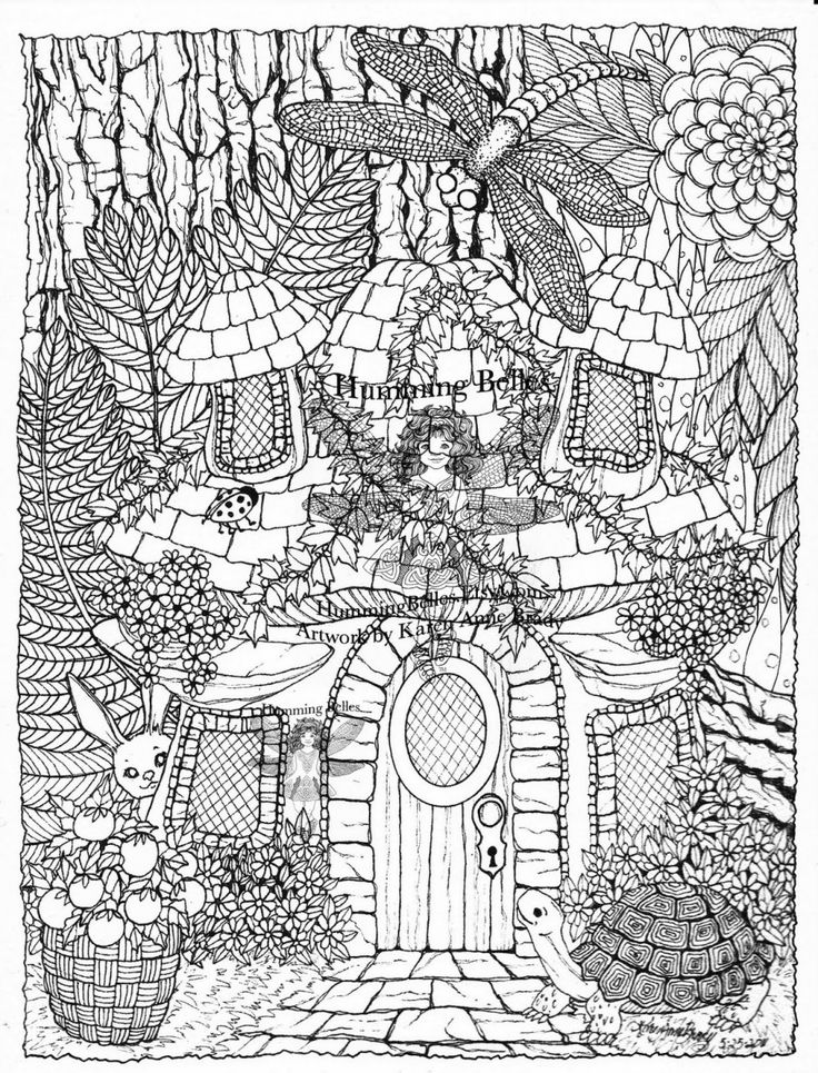 garden pixie coloring pages - photo #30