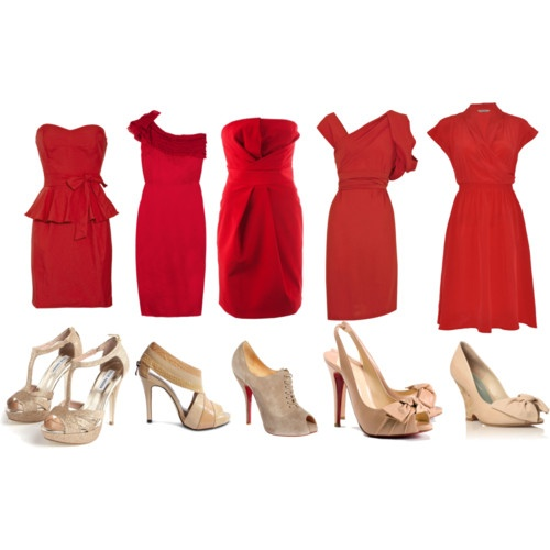 Here Are Some Red Dress And Shoe Combos Angel S Wedding Pinterest Dresses Bridesmaid Shoes
