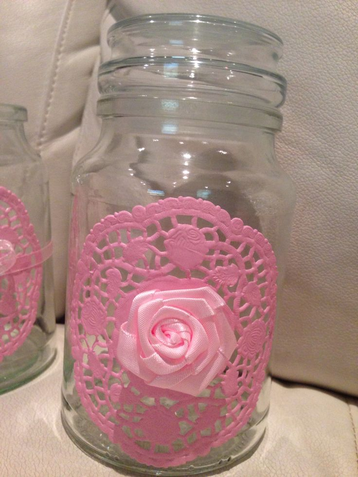 Doily on jar