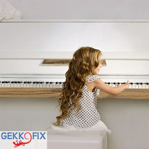 Requirements: piano and Zingana foil. Result: stunning! Get inspired & get creative! #DIY #Gekkofix #Wood