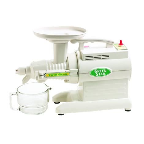 Tribest Green Star GS-1000 Basic Juice Extractor: It uses exclusive heavy duty twin gear technology with a low 110 rpm to produce higher juice yield and enhance nutritional value of every drop.