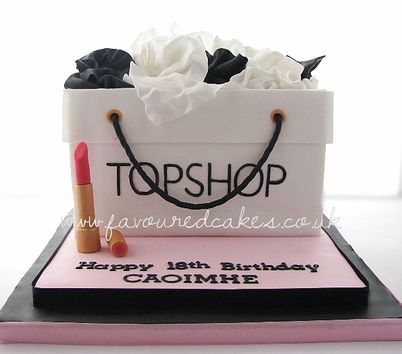 Topshop Shopping Bag Cake