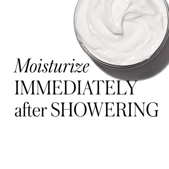 20 Timeless Skin-Care Tips - Moisturize Immediately After Showering from #InStyle