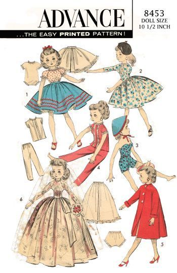 The 366 best Vintage Doll Clothes Patterns images on Pinterest ...
