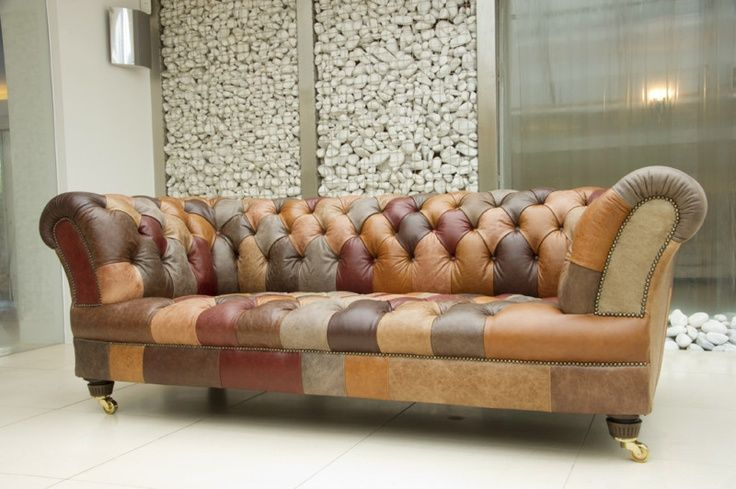Sofa Chester en piel.
