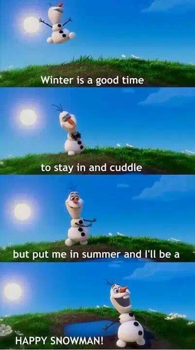 Zucchini Summer: Friday Funnies: Frozen (Olaf)