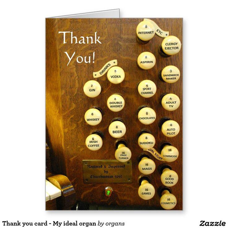 Thank you card - My ideal organ