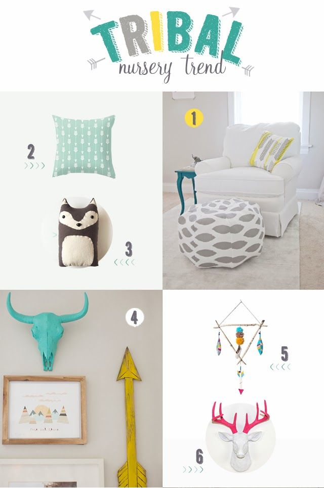the Stork is Coming: Tribal trend for babies: it's all about arrows, tepees and faux taxidermy!