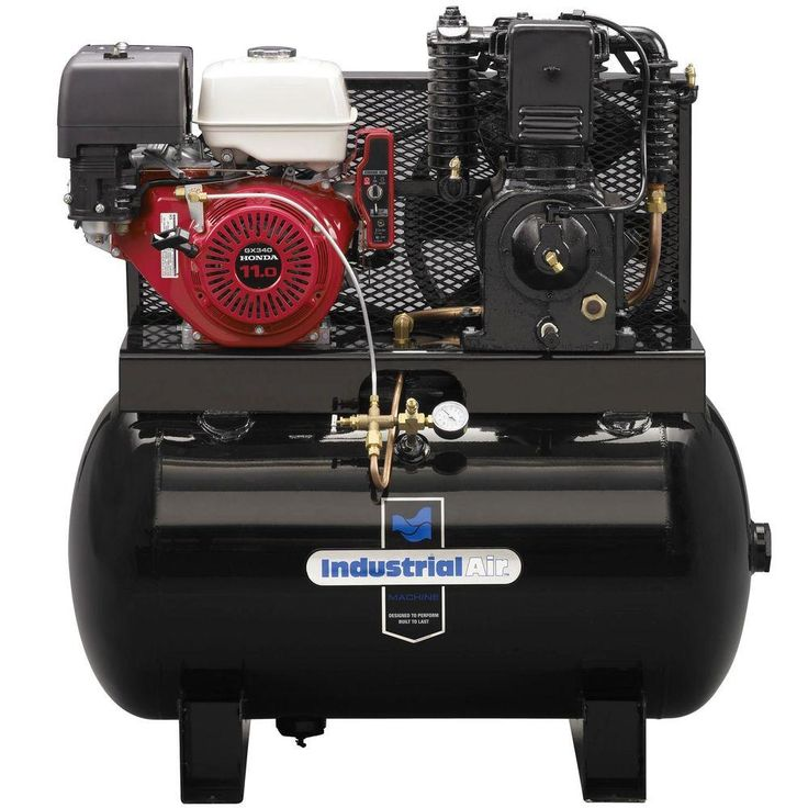 gas powered air compressor for service truck. 2 stage truck mount air compressor with 11 hp electric start honda gas powered for service i