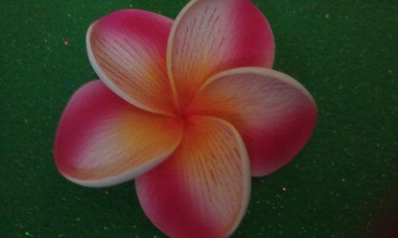 Pinkpink flowerPink plumeria hawaiian hair clip by msformaldehyde, $9.50