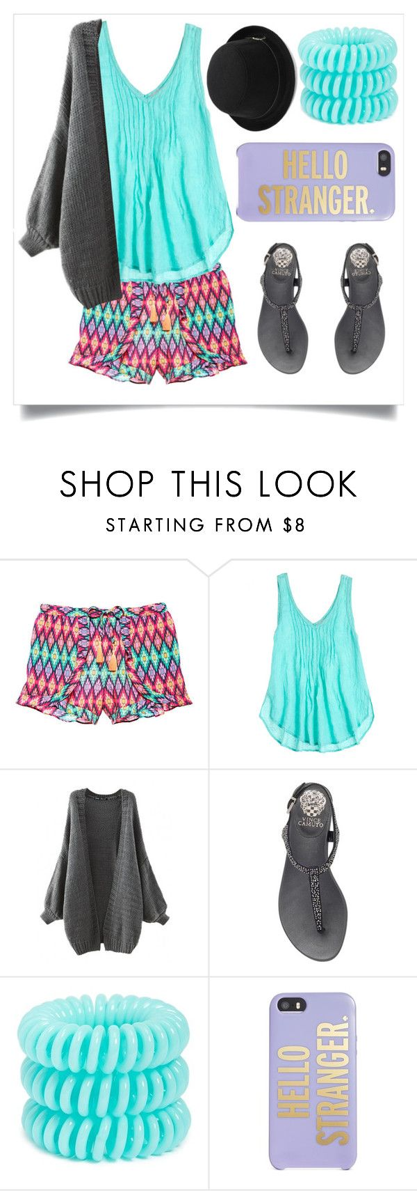"""""""Strangers"""" by chanlee-luv ❤ liked on Polyvore featuring Victoria's Secret, Calypso St. Barth, Vince Camuto, Invisibobble, Kate Spade, women's clothing, women, female, woman and misses"""