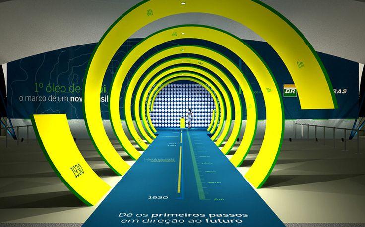 Effetto #Vertigo. Lo stand #Petrobras come lo avrebbe progettato #AlfredHitchcock