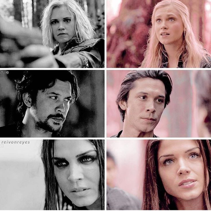 Clarke Griffin, Bellamy Blake and Octavia Blake in season 1 episode 1 (Pilot) and season 5 || The 100 || Delinquents || Eliza Jane Taylor, Bob Morley, Marie Avgeropoulos