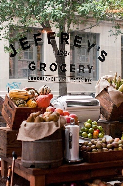 jeffrey's grocery NY. via Gabe Stulman's Joseph Leonard and Jeffrey's restaurant/grocery store » NYC Wedding Photographer Blog