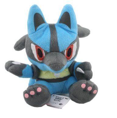 Pokemon Lucario Plush Soft Toy 7 inch high