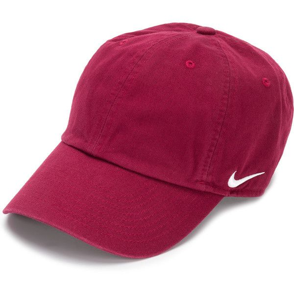 Nike baseball cap (52 PEN) ❤ liked on Polyvore featuring accessories, hats, red, american baseball caps, ball cap hats, cotton baseball hats, american hats and baseball cap hats