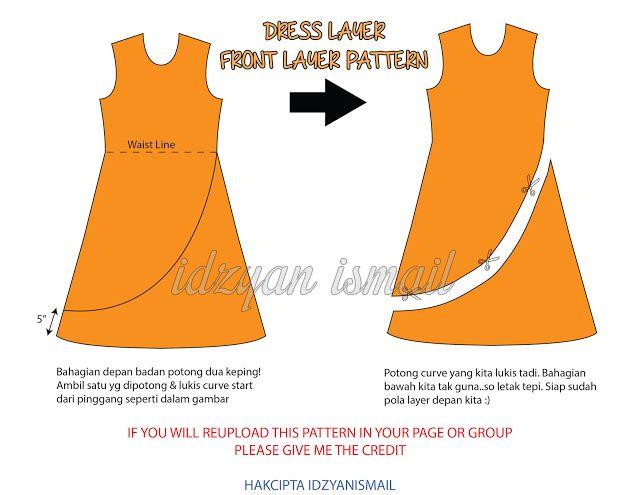 Layer dress or jubah