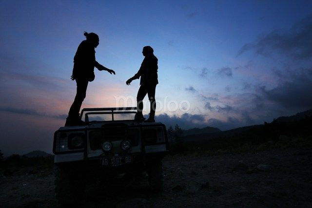Romantisme keindahan sunset di lokasi Lava Tour Merapi. (Benedictus Oktaviantoro/Maioloo.com)