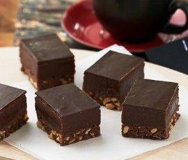 Rich Chocolate Peanut Butter Slice