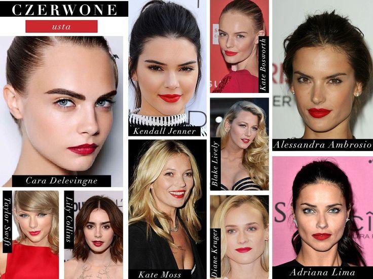 Czerwone usta gwiazd. czerwona szminka red lipstick red lips